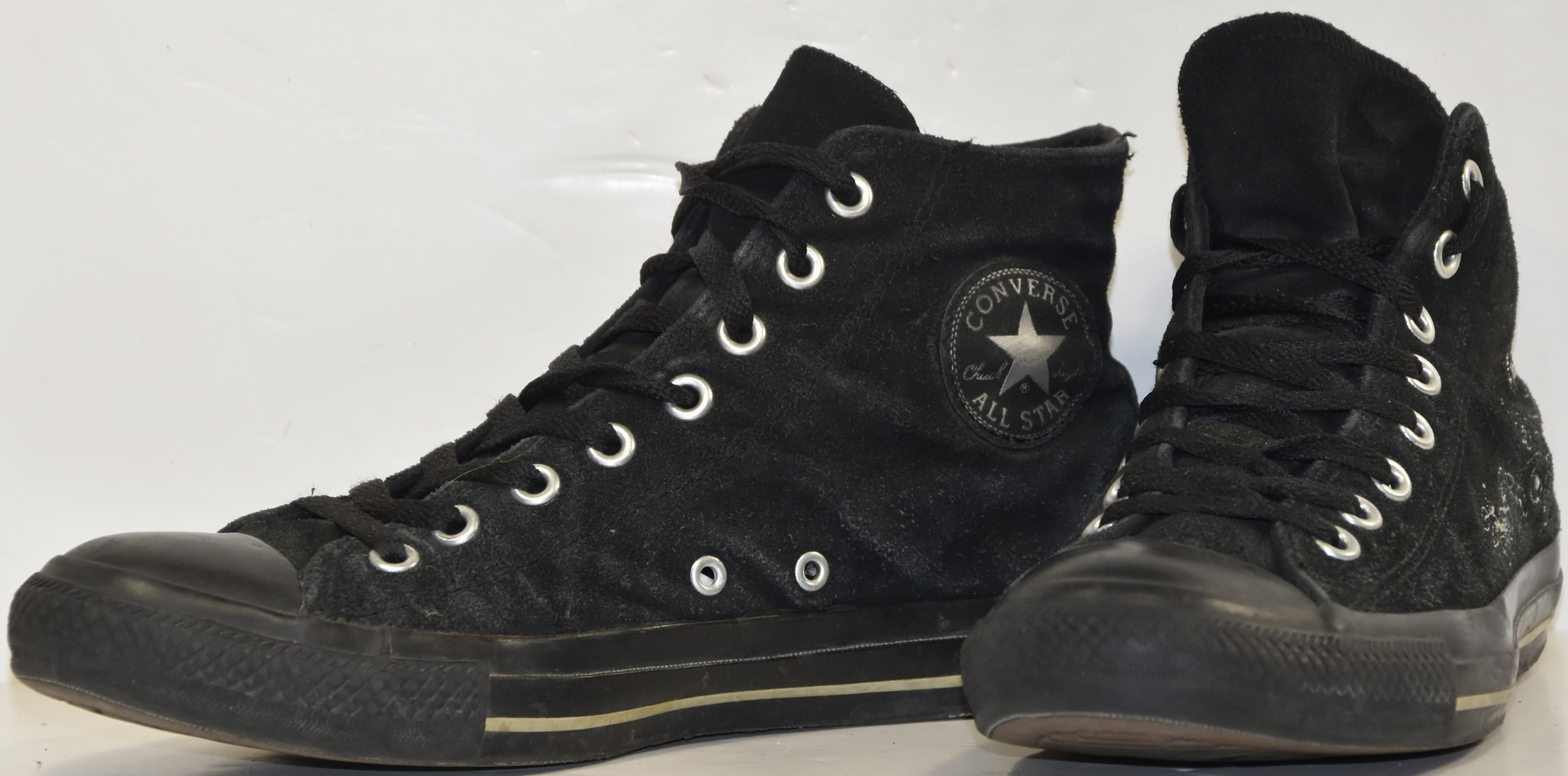 S099 CONVERSE ALL STAR CHUCK TAYLOR HIGH DAIM NOIR T.41.5 UK 8 VALEUR 100