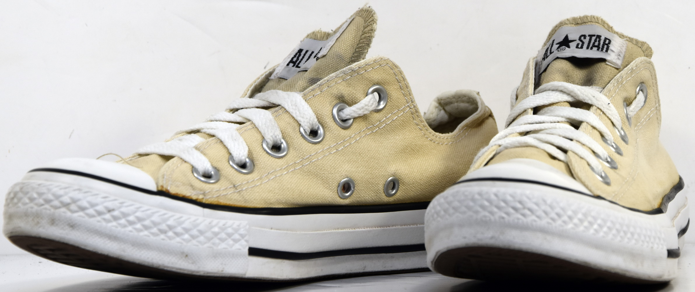 S133 BASKETS CONVERSE ALL STAR LO CORE OX BEIGES T.37 UK 4.5